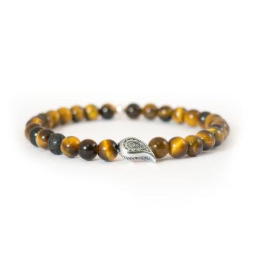 Bracciale occhio di tigre giallo 6mm