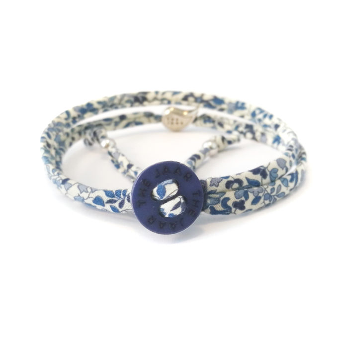 Bracciale London in cotone Liberty